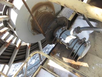 Ремонт барабана силового кабеля портального крана KONE-30
