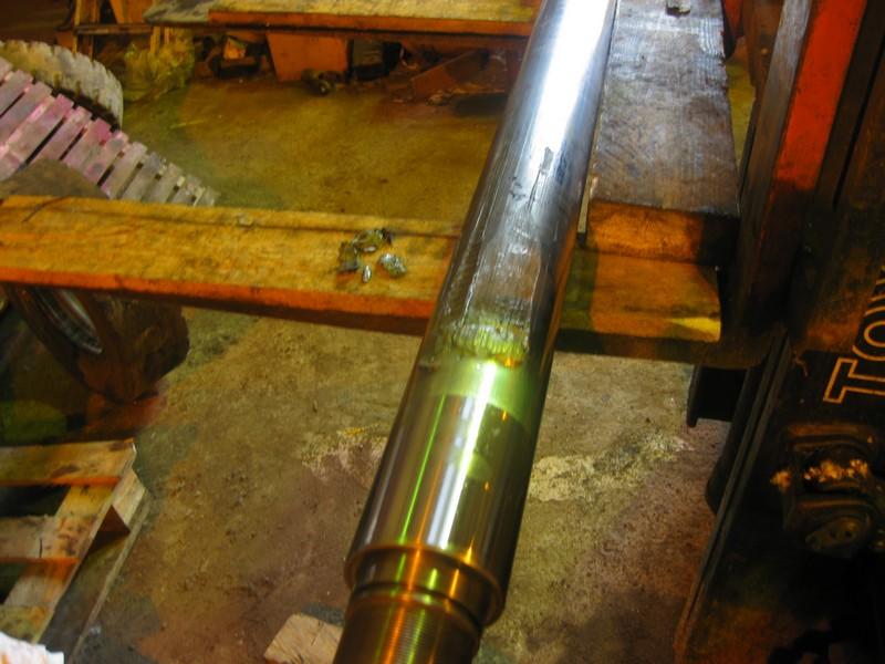 Ремонт штока гидроцилиндра подъёма стрелы Atlas